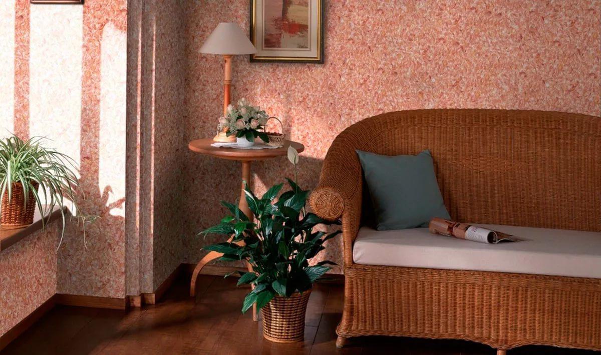 дизайн зала с жидкими обоями фото киселева российская